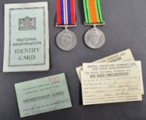 WWII SECOND WORLD WAR BRISTOL INTEREST MEDAL PAIR & ARP ITEMS