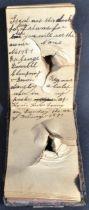 THIRD ANGLO-BURMESE WAR SOLDIER'S BULLET DAMAGED NOTEBOOK