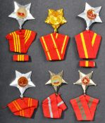 COLLECTION OF X6 VIETNAM WAR NORTH VIETNAMESE ARMY MEDALS