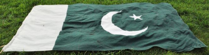 LARGE WWII SECOND WORLD WAR PERIOD PAKISTANI ENSIGN FLAG