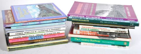 COLLECTION OF ASSORTED RAILWAY STEAM TRAIN BOOKS