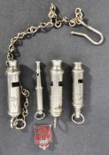 COLLECTION OF ASSORTED WWII SECOND WORLD WAR ARP WHISTLES