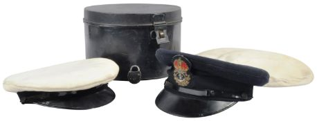 WWII SECOND WORLD WAR PERIOD ROYAL NAVY PETTY OFFICERS CAPS