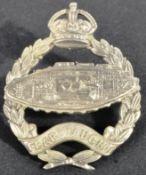 POST FIRST WORLD WAR 1924 PATTERN ROYAL TANK REGIMENT CAP BADGE