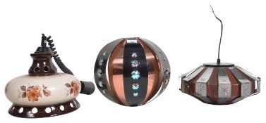 COLLECTION OF RETRO VINTAGE CEILING LAMPS