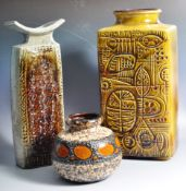 CARSTENS AND OTHER WEST GERMAN STUDIO POTTERY VASES