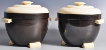 THERMOS - MODEL 929 - MATCHING PAIR OF BAKELITE ICE BUCKETS