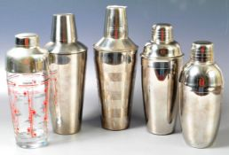 COLLECTION OF RETRO VINTAGE COCKTAIL SHAKERS