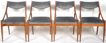 MCINTOSH TEAK WOOD DINING TABLE AND FOUR CHAIRS