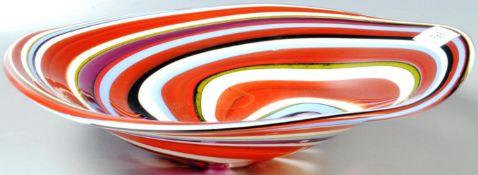 DAVID TIGHE - CONTEMPORARY STUDIO ART GLASS CENTREPIECE BOWL