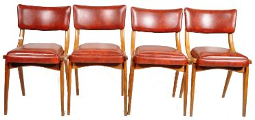 BEN CHAIRS - SET OF FOUR 1960'S BENTWOOD DINING CHAIRS