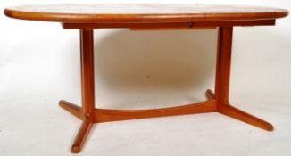 MANNER OF BENNY LINDEN - 1960'S DANISH TEAK WOOD DINING TABLE