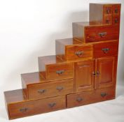 CONTEMPORARY SET OF STAIRS CHEST OF DRAWERS