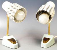 PAIR OF ORIGINAL RETRO VINTAGE MID 20TH CENTURY DESK LAMPS