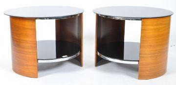 JUAL SAN FURNISHINGS - MATCHING PAIR OF SIDE TABLES