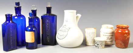 COLLECTION OF 19TH CENTURY & LATER APOTHECARY ITEMS
