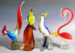 MURANO - COLLECTION OF RETRO GLASS ANIMAL FIGURES
