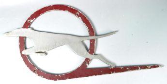 ORIGINAL 1950'S GREYHOUND BUSES METAL MOTORING SIGN