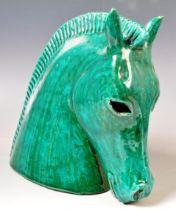 BITOSSI - RETRO 20TH CENTURY ITALIAN STUDIO POTTERY HORSE HEAD