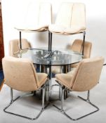 PIEFF - ELEGANZA RANGE - DINING TABLE AND SIX MATCHING CHAIRS
