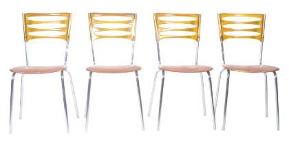 KERON - SET OF FOUR 1970'S STACKING DINING CHAIRS