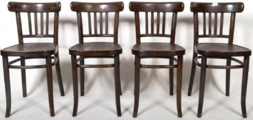SET OF RETRO VINTAGE GERMAN BENTWOOD THONET STYLE CHAIRS