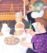 BERYL COOK - DINING IN PARIS - SIGNED PRINT