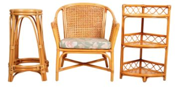COLLECTION OF RETRO MID 20TH CENTURY BAMBOO FURNITURE