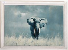 AFTER DAVID SHEPHERD - OLD WISE ELEPHANT MID 20TH CENTURY PRINT