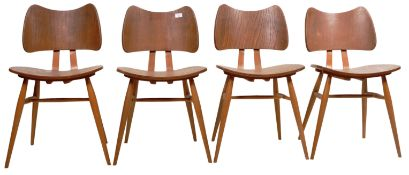 LUCIAN ERCOLANI - ERCOL - BUTTERFLY CHAIRS - SET OF FOUR DINING CHAIRS