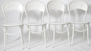 MATCHING SET OF FOUR THONET STYLE CAFE BISTRO CHAIRS