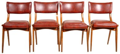 BEN CHAIRS - SET OF ORIGINAL 1960'S DINING CHAIRS
