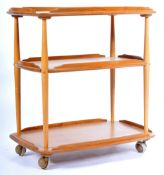 ERCOL MODEL 458 RETRO VINTAGE BEECH AND ELM DRINKS TROLLEY