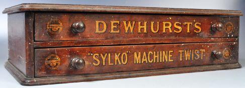 DEWHURST SYLKO - ADVERTISING TABLETOP RETAILERS STORAGE CHEST