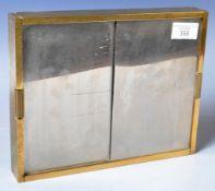 RETRO VINTAGE MIRRORED & BRASS CIGARETTE BOX