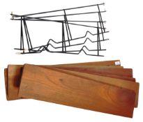 RETRO VINTAGE 1960'S TEAK WALL MOUNTED SHELVING SYSTEM