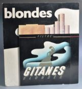 BLONDES - IMPERIAL TOBACCO 1980'S ADVERTISING POINT OF SALE SIGN
