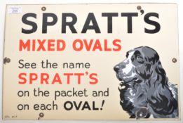 SPRATT'S MIXED OVALS 1950'S ENAMEL ADVERTISING SHOP SIGN