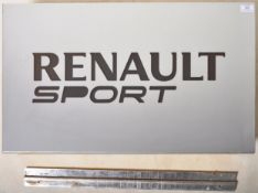 RENAULT SPORT - POINT OF SALE FORECOURT ADVERTISING SIGN