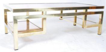 GUY LEFEVRE - MAISON JANSEN - BRASS & LUCITE COFFEE TABLE