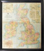 1920'S BARTHOLOMEW'S RAILWAY MAP OF THE BRITISH ISLES