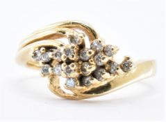 14CT GOLD AND DIAMOND CLUSTER RING