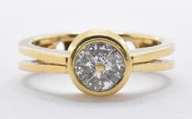 18CT GOLD AND DIAMOND RING / PENDANT