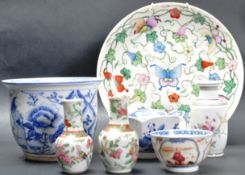 COLLECTION OF 19TH CENTURY AND LATER CHINESE CERAMICS