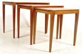 RETRO VINTAGE 20TH CENTURY TEAK WOOD NEST OF TABLES