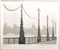 LATE 20TH CENTURY PRINT OF ST PAULS CATHEDRAL BY JOHN TRENTHAM
