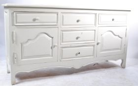 1930'S WHITE PAINTED SHABBY CHIC SIDEBOARD/ DRESSER BASE