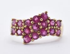 9CT GOLD & RUBY CLUSTER RING