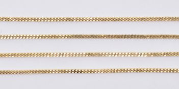 9CT GOLD FINE LINK NECKLACE CHAIN