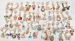 LARGE COLLECTION OF CRYSTAL SET TJC KEYRINGS